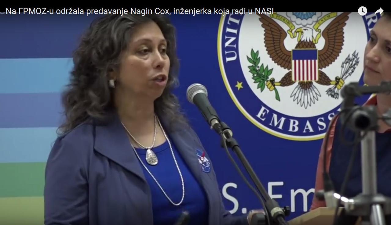 Na FPMOZ-u održala predavanje Nagin Cox, inženjerka koja radi u NASA-i
